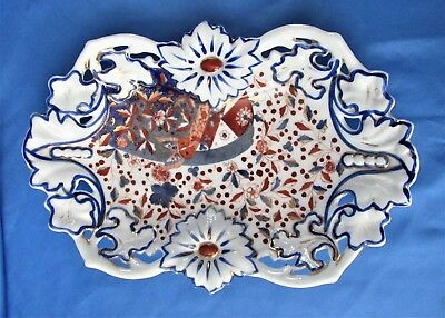Antique Gaudy Welsh or Dutch Butterfly Deep Platter Dish marked C.T.