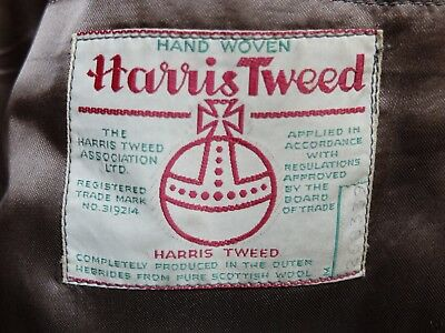 Harris Tweed Wool Burleigh Jacket Blazer Vintage Size 40""