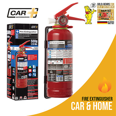 CAR+ Fire Extinguisher 1.1 lb 500g  Capacity  Dry Powder Safety Portable