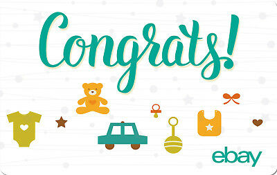 eBay Digital Gift card - Baby Congrats $25 $50 $100 or $200 - Email Delivery
