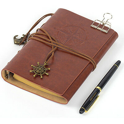 Vintage Classic Retro Leather Journal Travel Notepad Blank Book Diary Notebook