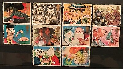 1993 Gb Greetings booklet stamps Gift Giving Used Set Sg 1644 1653