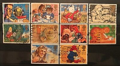 1994 Gb Greetings stamps Messages Used Set Sg 1800 1809