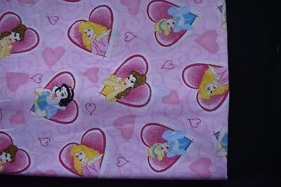 Baby Girl's pink Disney Princesses bassinett flat sheet set of 2 - handmade