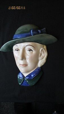 Art Deco ,peggy Davies Wall Mask , Very Unusual, Great Condition