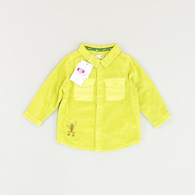 Camisa micropana color Verde marca DP…am 9 Meses