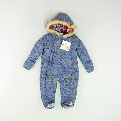 Buzo color Azul marca PitterPatter 6 Meses
