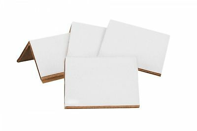 "140 Cardboard Edge Corner Protectors - 2"" x 2"" x 3"" - White - Light Duty 0.120"""