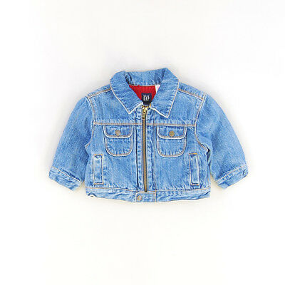 Cazadora color Denim oscuro marca Gap 6 Meses