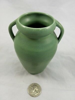 Stangl Art Pottery Matte Green Arts and Crafts Small Hand Thrown Vase