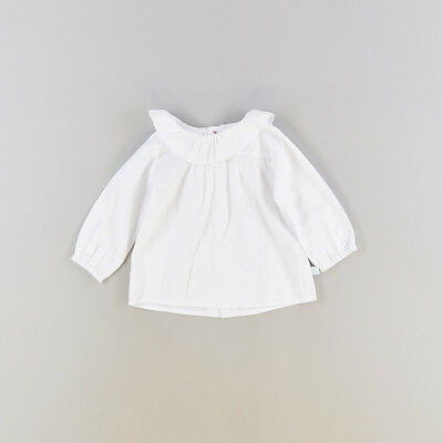 Camisa color Blanco marca Cotton & Sugar 9 Meses
