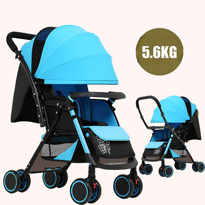 Baby Stroller Pram Compact Lightweight Buggy Travel Carry-on 4 Wheel Pushchair
