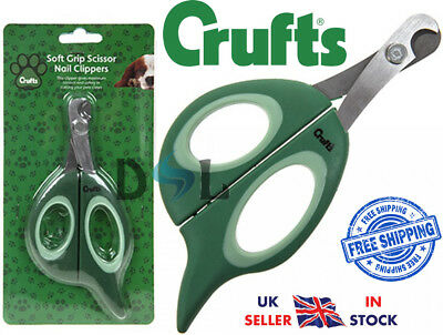Crufts Animal Pet Dog Cat Nail Clippers Trimmers Soft Grip Claw Grooming