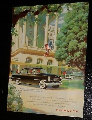 Superb 1953 Plymouth Cranbrook Sedan & Wagon Vintage Ad - American 50S Retro