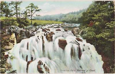 POSTCARD The Swallow Falls Betws-y-Coed Photogravure 1905 PM Antique Wales Welsh