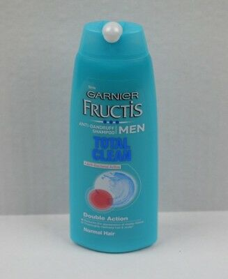 Garnier Fructis Men Total Clean Anti-Dandruff Shampoo Normal Hair 250ml NEW
