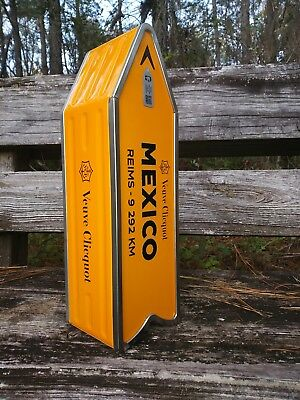 Veuve Cliquot Champagne MEXICO Journey Street Sign 12/17 Holiday Collectible Tin