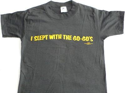 "RARE Vintage Punk Rock T-Shirt ""I Slept With the Go-Gos"" 70s 80s Sex LGBT Cool!"