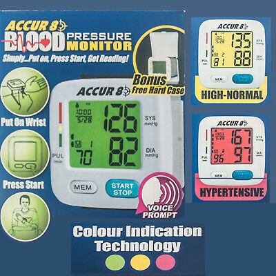 """Colour Blood Pressure Monitor Color indication the good doctor """"As Seen on TV"""""""