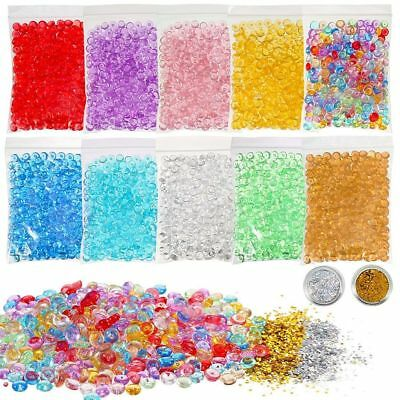 Round Pearl Gold/Silver Tinfoil Paper Fishbowl Beads Crunchy Slime Mixture
