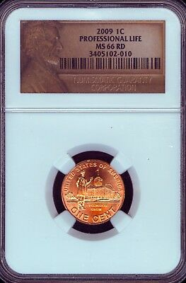 2009 Professional Life Lincoln Cent Grade MS66 RED by NGC..