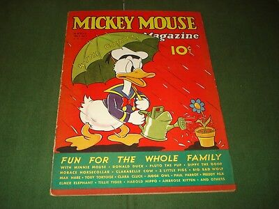Mickey Mouse Magazine V. 2 #7, Donald Duck Cover, April 1937