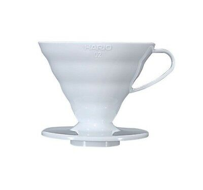 HARIO V60 Coffee DRIPPER with Spoon 1-4 cups VD-02W WHITE From JAPAN