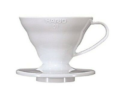 HARIO V60 Coffee DRIPPER with Spoon 1-2 cups VD-01W WHITE From JAPAN