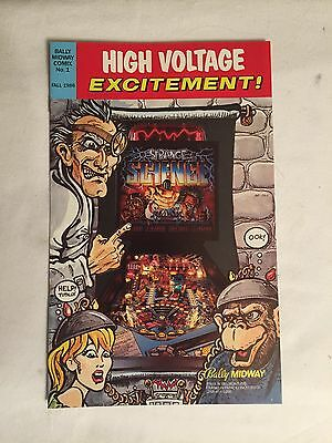 1986 Bally Strange Science Factory Original Pinball 8 Page Comic Book Flyer Mint