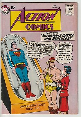ACTION COMICS #268,DC SILVER AGE 10c COVER,SUPERGIRL,SUPERMAN,ACCURATE GRADING