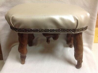 Antique mission style  Cypress tree knees footstool  Arts and crafts era
