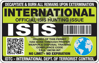 International ISIS Hunting Permit (No Expiration) - Decal / Sticker