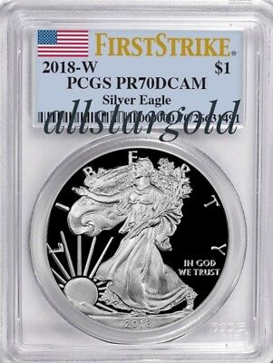 2018-W  Silver American Eagle - PCGS proof-70 Dcam First Strike