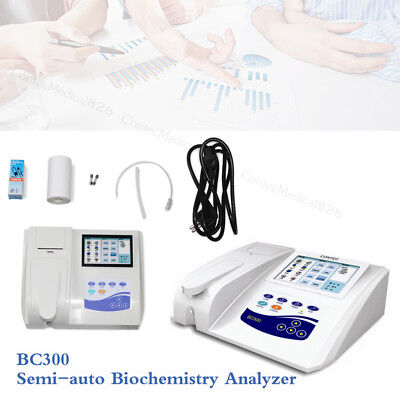 BC300 Semi-auto Biochemistry Analyzer analyzing blood and Fluid,Touch,Printer