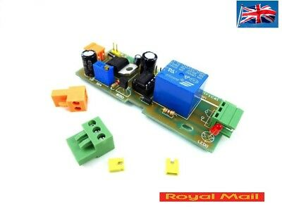 NE555 Timer Relay Switch 1-300 second input DC 5-12v TIME OVER RESET Delay relay