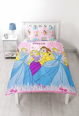 Disney Little Princess Boulevard Single Duvet Set Bedroom Bed Quilt Cover #