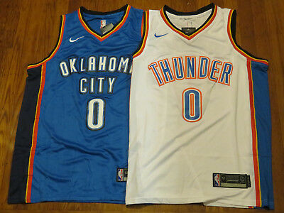77068d6fc Russell Westbrook Oklahoma City Thunder Swingman Jerseys White Blue  Stitched NEW