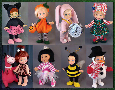 Sewing Pattern: 8 Costumes for Baby Face Dolls **PRILLYCHARMIN EXCLUSIVE**