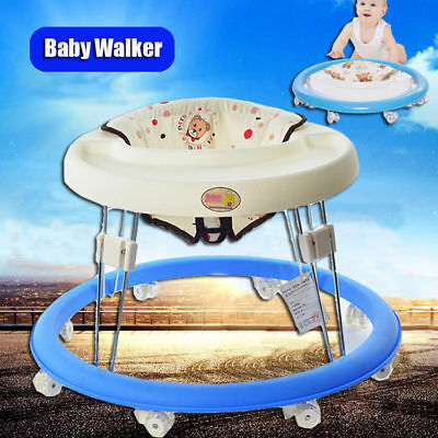 Portable Foldable Baby Walker Activity Play Tray Toy First Steps Learn Tools HOT
