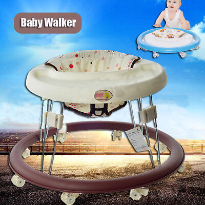 Baby Activity Walker Toddler Play Tray Folding Walk Learning Assistant Toy