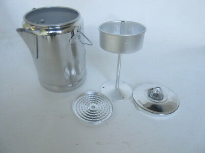 Outdoor Aluminium Kaffeekocher Percolator Kaffeekanne Camping Army Coffee Maker