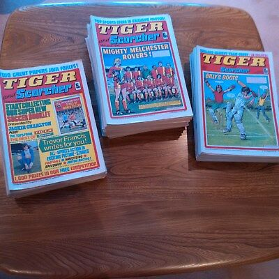 113 vintage tiger and scorcher comics 12th October 1974to 25th December 1976