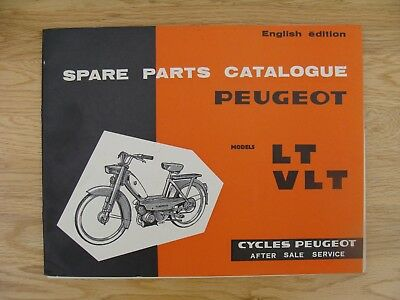 PEUGEOT LT  VLT Spare Parts Book (GENUINE  MANUAL) With Without Variator