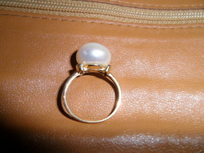 Bague Or Perle Rose Poudree