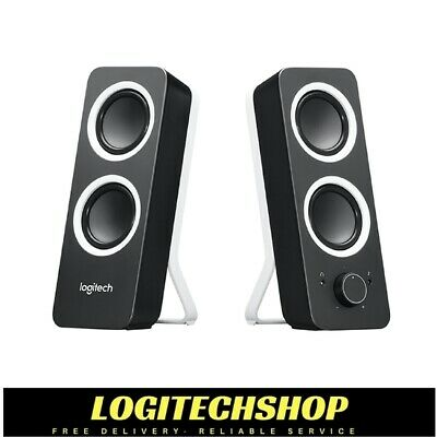 LOGITECH Z200 2.0 Multimedia Speakers-  Black (FREE POSTAGE)