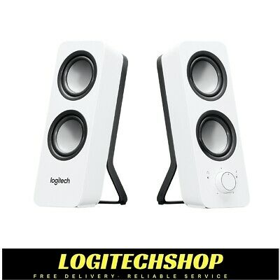 LOGITECH Z200 2.0 Multimedia Speakers-  White (FREE POSTAGE)