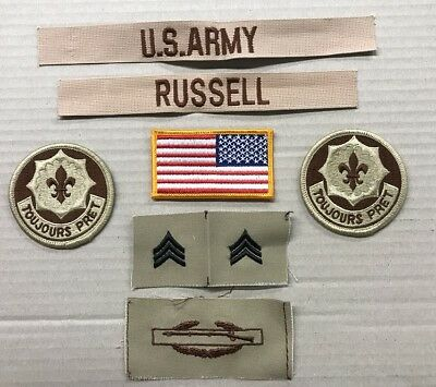 9 US ARMY patch Set DCU Desert Uniform Konvolut 4th ID AIRBORNE 2nd ACR Lt LAURY Bekleidung & Schutzausrüstung Airsoft