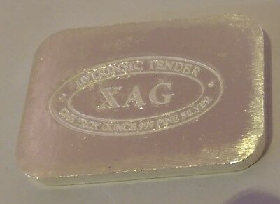 XAG Cast 1oz solid silver bar .999 Pure Silver Intrinsic Tender