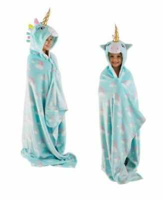 3D Hooded Unicorn Girls Blanket Brilliant Way To Stay Cozy  110 x 140cm (Approx)