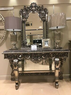 Tables Punctual Solid Mahogany French Chateau Style Antique White Carved Console Hall Table Furniture